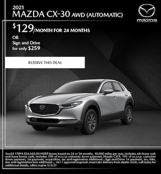 2021 Mazda CX-30 AWD (Automatic)