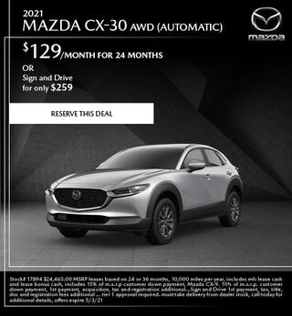 2021 Mazda CX-30 AWD (Automatic)
