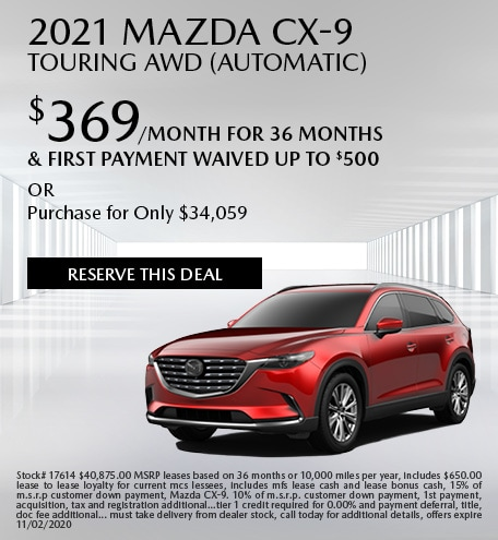 October 2021 Mazda CX-9 Touring AWD (Automatic)