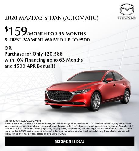 2020 Mazda3 Sedan (Automatic)