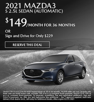 March 2021 Mazda3 S 2.5L Sedan (Automatic)