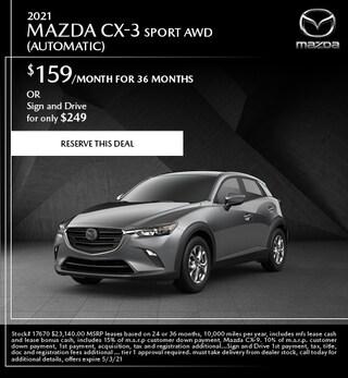 2021 Mazda CX-3 Sport AWD (Automatic)