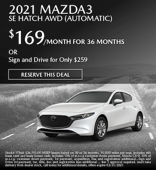 March 2021 Mazda3 SE Hatch AWD (Automatic)