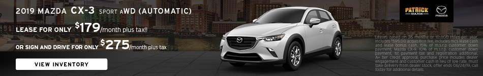 June 2019 Mazda CX-3 Lease Offer