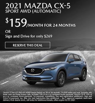 March 2021 Mazda CX-5 Sport AWD (Automatic)