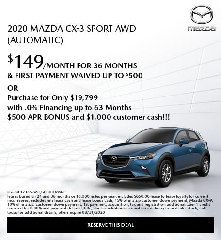 2020 Mazda CX-3 Sport AWD (Automatic)