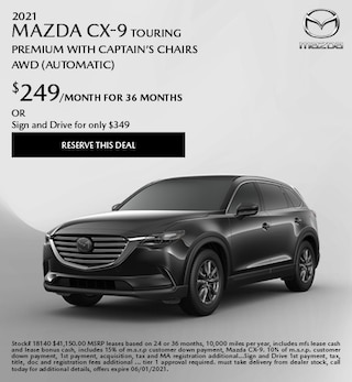 2021 Mazda CX-9 Touring Premium with Captain's Chairs AWD (Automatic)