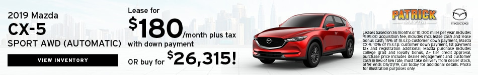 April 2019 CX-5 Lease