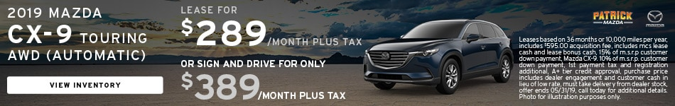 May 2019 CX-9 Lease