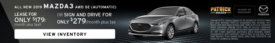 July Mazda3 Lease