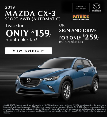 August 2019 CX-3 Lease