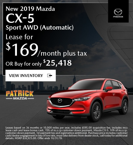 October 2019 Mazda CX-5 Lease