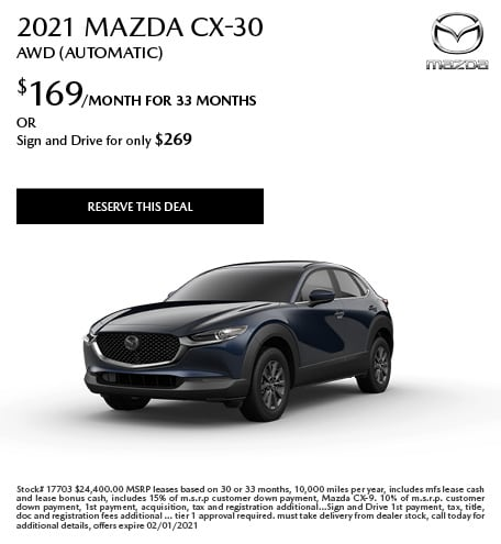 January 2021 Mazda CX-30