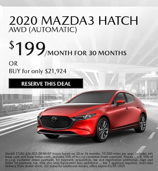 February 2020 Mazda3 Hatch AWD (Automatic)