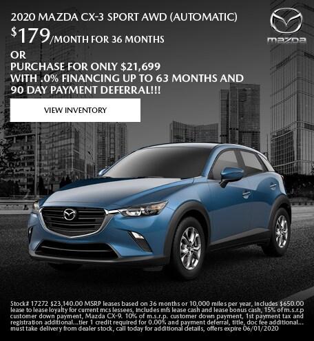 May 2020 Mazda CX-3 Sport AWD (Automatic)