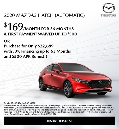 2020 Mazda3 Hatch (Automatic)
