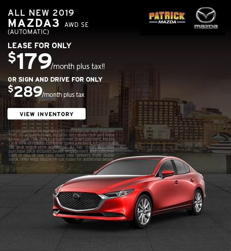 June 2019 Mazda3 Lease Offer