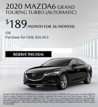 October 2020 Mazda6 GRAND TOURING TURBO (Automatic)