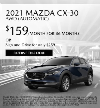 February 2021 Mazda CX-30 AWD (Automatic)