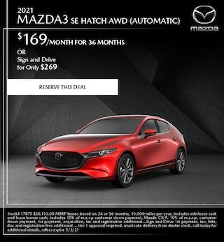 2021 Mazda3 SE Hatch AWD (Automatic)