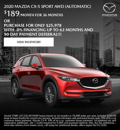 May 2020 Mazda CX-5 Sport AWD (Automatic)