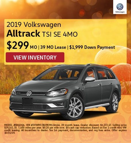 October 2019 Golf Alltrack Lease