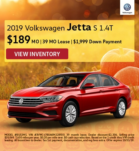 October 2019 Jetta Lease