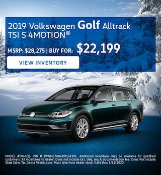 January 2019 Volkswagen Golf Alltrack TSI S 4MOTION® Lease