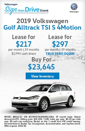 December 2019 Golf Alltrack Lease