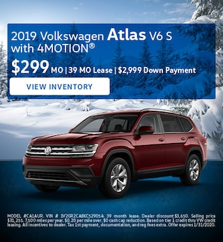 January 2019 Volkswagen Atlas V6 S with 4MOTION® Lease
