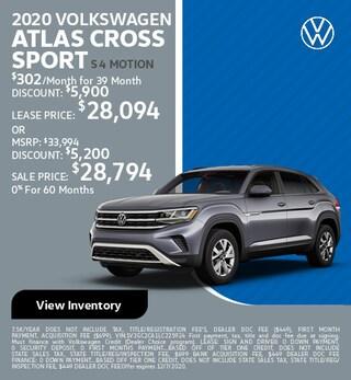 November 2020 VOLKSWAGEN ATLAS CROSS SPORT S 4 MOTION