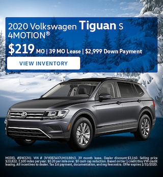 January 2020 Volkswagen Tiguan S 4MOTION® Lease