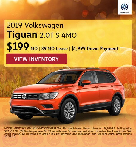 October 2019 Tiguan Lease