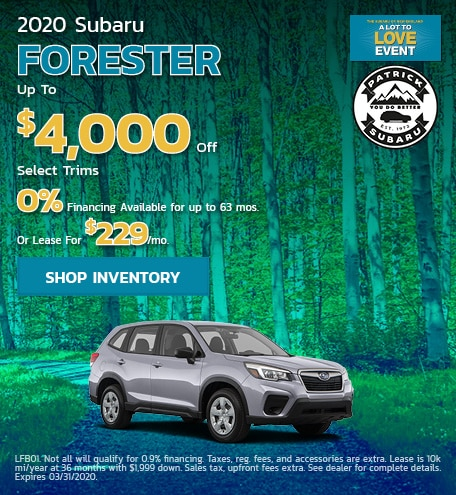 2020 Subaru Forester March Offer