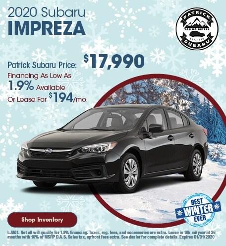 2020 Subaru Impreza January Offer