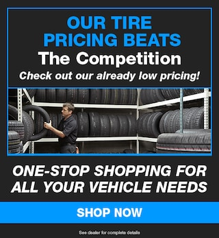 Our Tire Pricing Beats The Competition