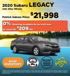 2020 Subaru Legacy with Alloy Wheels