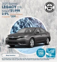 2020 Subaru Legacy 2.5i December Offer