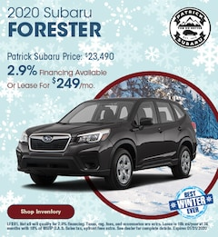 2020 Subaru Forester January Offer