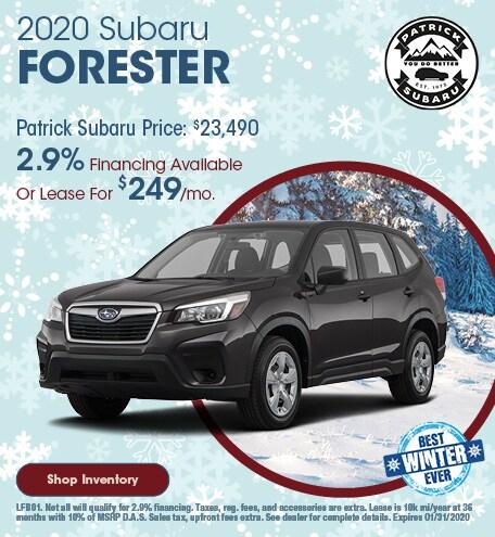 2020 Subaru Forester January Offer
