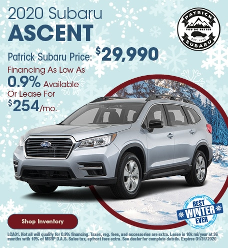 2020 Subaru Ascent January Offer