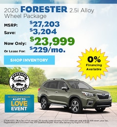 2020 Subaru Forester August Offer