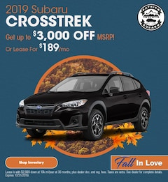 2019 Crosstrek October Offer