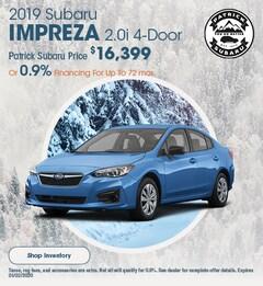2019 Subaru Impreza 2.0i 4-Door Lease