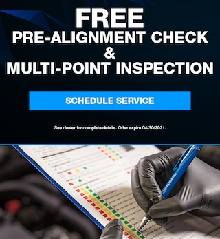 Free Pre-Alignment Check & Multi-Point Inspection