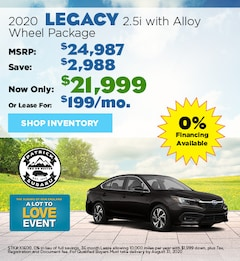2020 Subaru Legacy August Offer