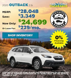 2020 Subaru Outback September Offer