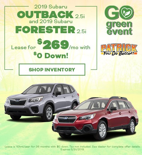 May 2019 Subaru Outback or Forester Lease