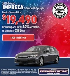 2020 Subaru Impreza 5-Door with Eyesight Feb Offer