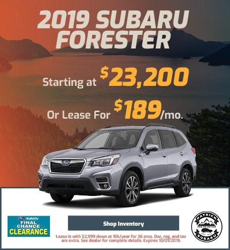 2019 Forester September Offer